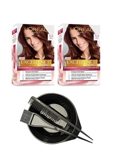 L'Oréal Excellence Creme 5.5 2'li + Saç Boyama Seti Renksiz